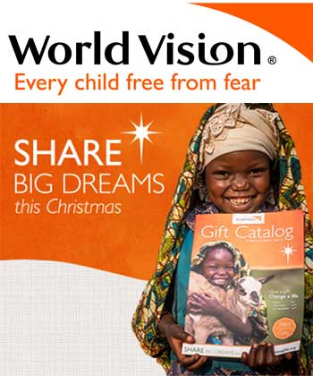 donate to world vision via the gift catalogue